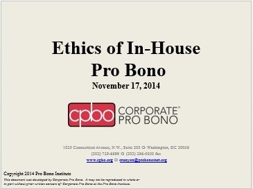ethics of in-house pro bono