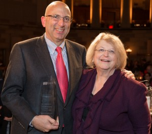 Bob Dell and Esther Lardent at the 2012 PBI Annual Dinner.