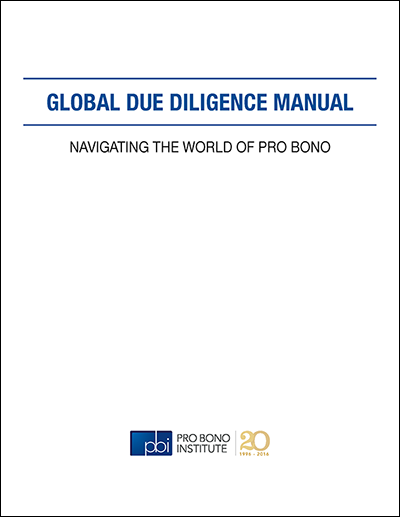 Due Diligence Manual Cover